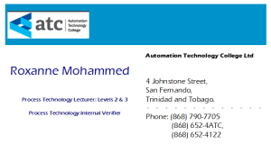 Roxanne Mohammed business Card