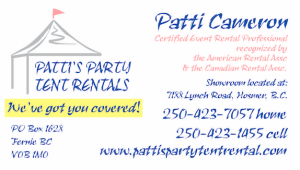 Patti Campbell Business Card front